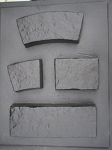 4 Thick Garden Wall Molds to Make Concrete Blocks, Driveway Pavers Garden Edging image 2