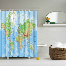 2017 New Design Colorful Eco-friendly World Map Polyester  High Quality Washable image 6