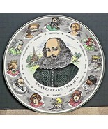 Vintage Royal Doulton T.C. 1041 Character Plate Shakespeare 10 1/2' EXCE... - $29.21