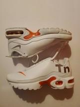 Nike Air Max Plus TN SE Big Logo Youth White Silver Orange Size 3.5Y AR0005-100 - $59.40