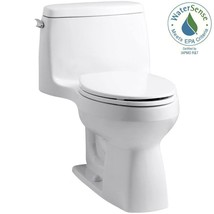 KOHLER One Piece Toilet 1.28 GPF Single Flush Elongated Vitreous China White - $368.12
