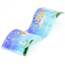 Fused Art Glass Ocean Sea Turtle Wavy Decor Sun Catcher Handmade in Ecuador image 6