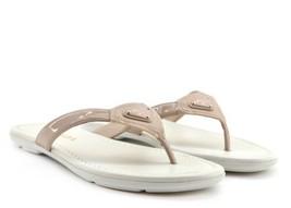 Prada Logo Sandal Flip Flops Vernice Patent Leather Beige Size 7.5US/37.... - $266.31