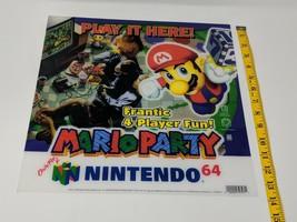 Mario Party Nintendo 64 N64 Store Display Sign Promo Plastic Translite VTG - $494.99