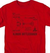Star Trek Retro 60s Sci-Fi series Klingon Battlecruiser graphic t-shirt CBS1383 image 3