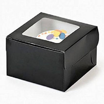 Single Cupcake Boxes Black 12 Pk Bakery Solid C... - $14.95