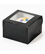 Single Cupcake Boxes Black 12 Pk Bakery Solid Color Window Boxes Baking ... - $14.95