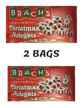 Brach's Peppermint Christmas Nougats Candy 5oz bag Chewy Candies Seasonal 2 bags - $14.99