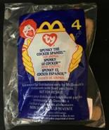 TY Teenie Beanie #4 - 1999 McDonald's - Spunky the Cocker Spaniel Puppy Dog - $2.22