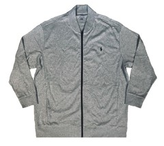 $125 Ralph Lauren Big and Tall Performance Full Zip Gray Track Jacket  2XB - $72.00
