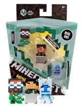 Minecraft Mini Figures Biome Settlers Series Tundra Engineer Hunter Stra... - $14.88
