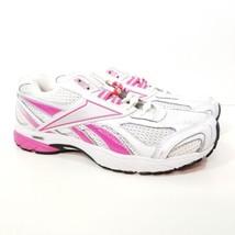 Reebok Running Sneaker Size 8.5 White Pink Shoes Laces Mesh Women's Medium  - €25,24 EUR