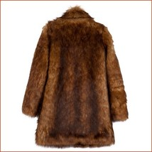 Luxury Roaring Twenties Big Muskrat Coat Turn Down Collar Imitation Faux Fur image 5