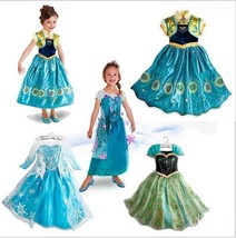 KIDS Girls Frozen Fever Elsa Princess Costume Cosplay Party Fancy Dress - $17.99
