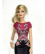 2013 Mattel BARBIE FASHIONISTAS STYLE #BLT09 Doll Bracelet And Dress Only - $9.79