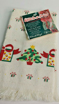 Christmas Tree Cross Stitch Hand Towel Stitch-A-Print Charles Craft - $9.49