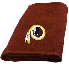 Washington Redskins Hand Towel measures 15 x 26 inches - $16.95