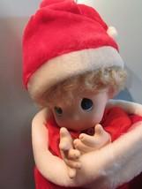 """Precious Moments 1995 christmas stocking NICHOLAS Doll 16"""" blonde hair/b... - $34.65"""