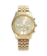 Michael Kors MK8281 Mens Watch Lexington Gold-Tone Oversized Chronograph  - $149.00