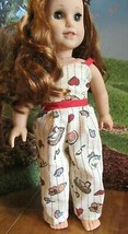 """HANDMADE 18"""" american girl/our gener jumper doll clothes country blair chicken  - $21.78"""