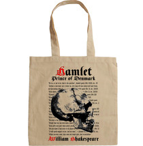 HAMLET SHAKESPEARE - NEW AMAZING COTTON HAND BAG/TOTE BAG - $16.75