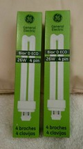 Lot of 8 GE BIAX D ECO 26W 4 PIN COMPACT FLUORESCENT LAMP BULB G24Q-3   - $44.99