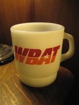 Wbat Talk Am Radio Marion Indiana USA Vintage Galaxy Verre Tasse à Café ... - $29.49