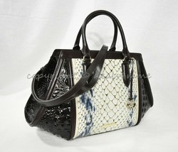 SET Brahmin Arden Leather Satchel/Shoulder Bag + Ady Wallet in Glacier C... - $569.00