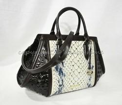 SET Brahmin Arden Leather Satchel/Shoulder Bag + Ady Wallet in Glacier C... - $569.00
