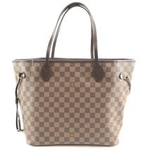 #32433 Louis Vuitton Neverfull Mm Tote Work Damier Ebene Canvas Shoulder... - £930.74 GBP