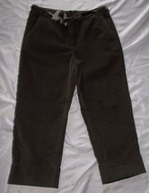 Womens Talbots Stretch Corduroy Capri Pants~ Sz 6~ Green~ Cotton/Spandex - $14.84