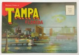 VTG Old Linen Era Fold Out Envelope Postcard Souvenir Photo Set Tampa Fl... - $24.45