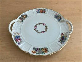 Rare Rosenthal Floral Pattern Fine China Serving Platter Trimmed in Gold - $123.75