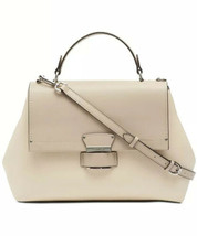 Nwt Calvin Klein Delancy Leather Satchel Msrp $228.00 - $103.94