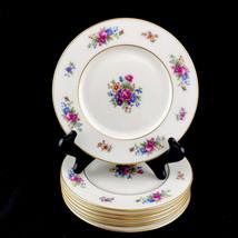 Lenox Rose Fine China Ivory Dresden Floral 7 Salad Plates Made USA Retir... - $65.41