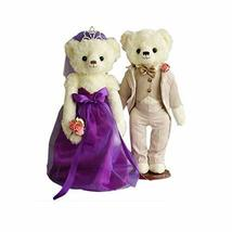 PANDA SUPERSTORE A Pair of Loving Bears Cute Teddy Bear Plush Toy Wedding Gifts(