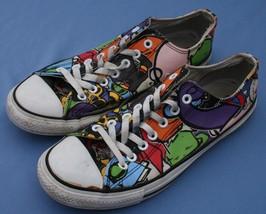 Converse All Star Sneakers Sz 10 / 12 Low Comic Book Fun Print Unisex Ca... - $24.19