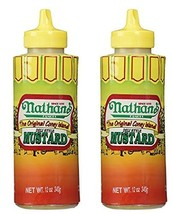 Nathan Coney Island Mustard Squeeze Bottle, 12-ounce Pack of 2