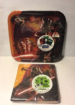 Star Wars Feel The Force 3D Dessert Napkins 16 Ct Birthday Party Supplies New - $9.99