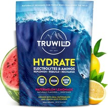 TRUWILD Hydrate Electrolyte + Amino Acids Drink Mix Powder | Clean Post ... - $32.99