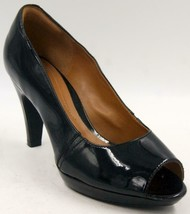 Clarks Collection Narine Rowe Women's Black Patent Leather Open Toe Shoe... - $33.24