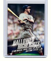 STAN MUSIAL - ST LOUIS CARDINALS - 2016 TOPPS - HALLOWED HIGHLIGHTS - CA... - $1.95
