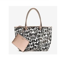Victoria's Secret Duo Graffiti Logo Tote Bag And Small Bag New 2017 - $28.04