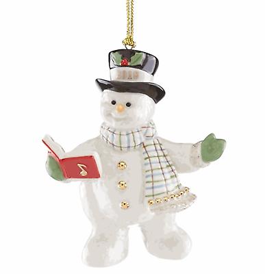 Lenox 2018 Snowman Figurine Ornament Annual Snowy Song Caroling Christmas NEW