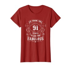 Dad Shirts - It Took Me 91 Year To Look This Good Shirt 91th Birthday Me... - $19.95+
