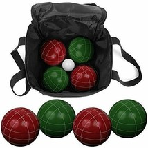 Bocce Ball Set: Carrying Case 4 Dark Green 4 Dark Red Standard Sized - $69.25