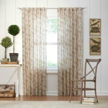 """NEW 2 Pack Light Filtering Window Panel in Taupe Leaf 50"""" x 84"""" - $28.50"""