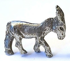 DONKEY FINE PEWTER FIGURINE - Approx. 3/4 inch tall   (T181) image 2