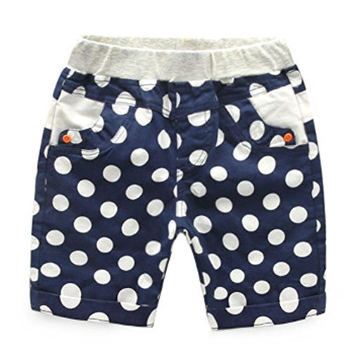 New Style Children's Wild Casual Pants Wave Point Pattern Age 2-5