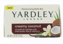 3 Yardley London Soap Creamy Coconut Moisturizing Bath Bar (3 Bars) 4.25 Oz Each - $10.40